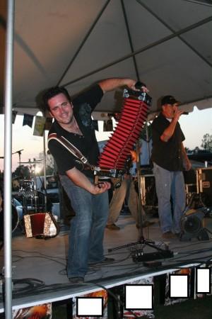 Cajun Music man with accordion