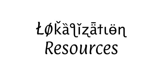 Localization resources for l10n professionals
