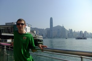 Backpacking in Hong Kong while also working as an English teacher.
