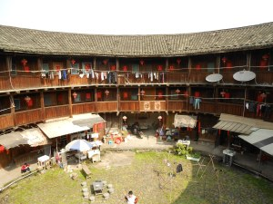 Inside the wonderful Earthen Building in Yun Shui Yao