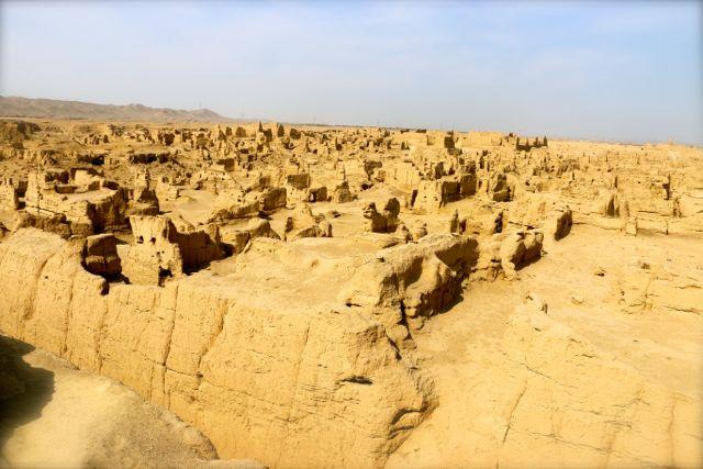 The Jiaohe City Ruins near Turpan, Xinjiang