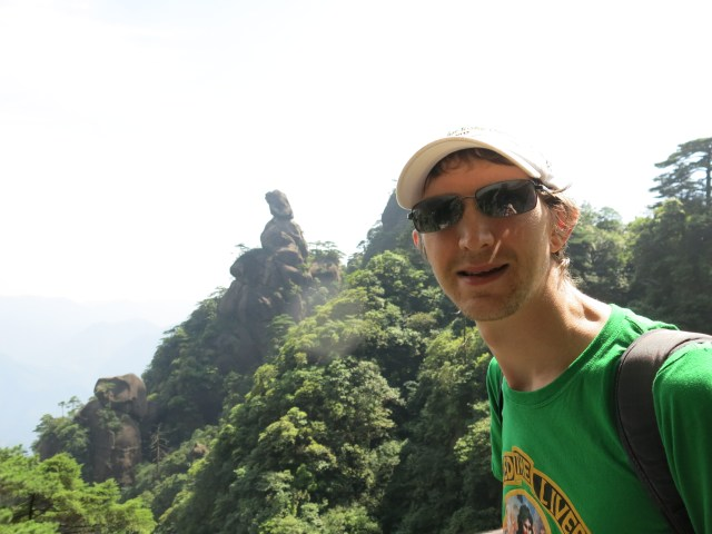 Hiking in Sanqing Shan.