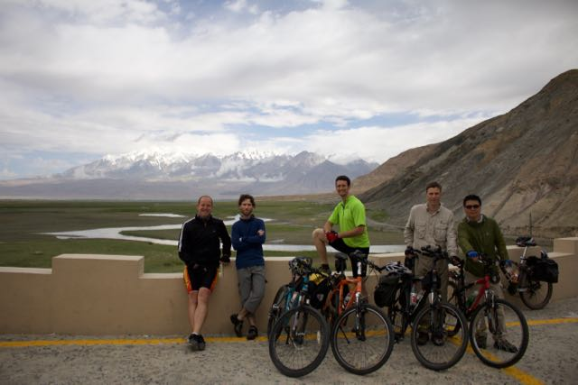 Our group of cyclist on the Karakoram Highway