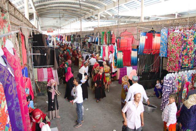 Kashgar's busy Sunday Market in Xinjiang, China