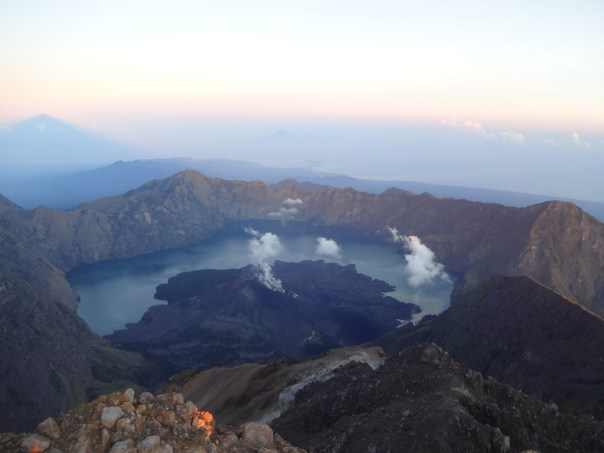 View of the volcano from the summit (Indonesia, 2016).