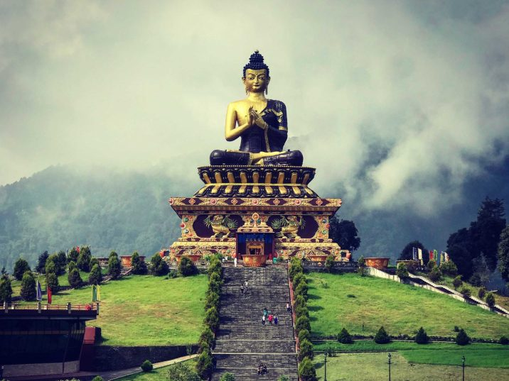 Where is the Buddha Park in Sikkim?