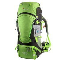 Mountaintop® Outdoor Hiking Climbing Canvas Internal Frame Backpacks Daypacks Waterproof Ripstop Mountaineering Bag M5822 Shoulder Bags 60L Unisex Large-capacity Trekking Travel Bag Rucksack