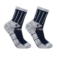YUEDGE Men's 2 Pack Antiskid Wicking Cotton Socks For Outdoor Camping Hiking backpacking Sports
