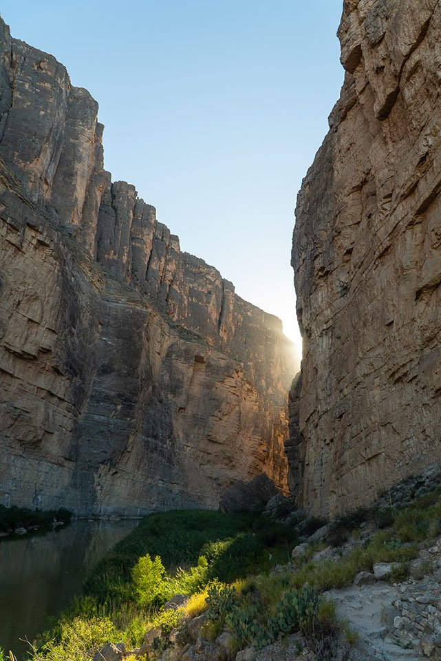 usa travel tips: the Rio Grande river in Big Bend National Park