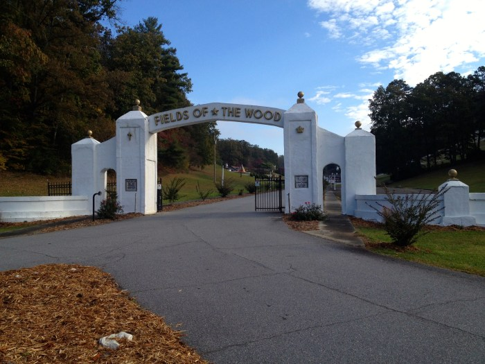 Fields of the Wood Entrance