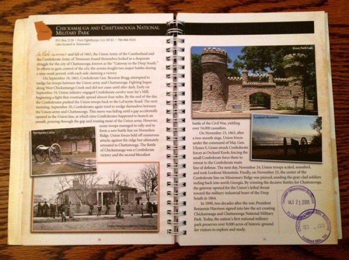 Inside pages of the Civil War Handbook.