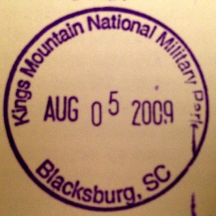 Kings Mountain Passport Stamp - National Parks Passports: My Not-So-Secret Obsession