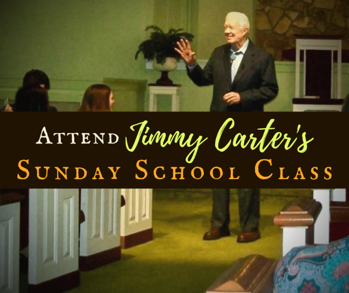 Jimmy Carter's Sunday School Class Featured