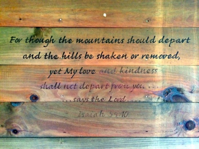 Pinebox Log Cabin Scripture