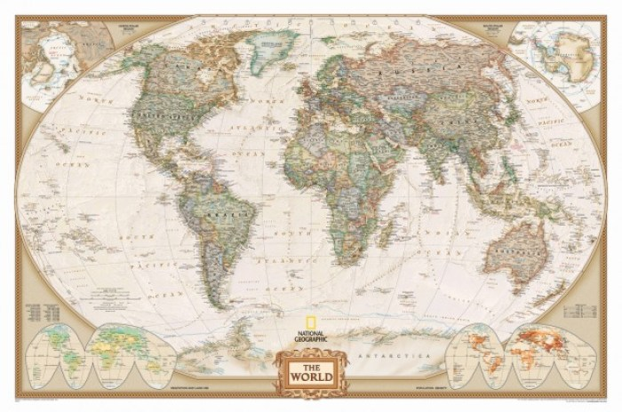 ng antique lg - How to Hang a National Geographic World Map Mural