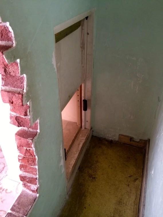 The hiding place in Corrie Ten Boom's bedroom.