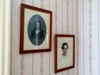 Corrie ten Boom's photos on her bedroom wall.