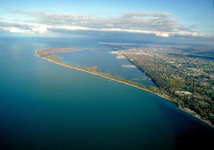 1024px Presque Isle Pennsylvania aerial view - 30+ North American Bucket List Destinations
