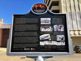Greyhound Bus Station Jackson Mississippi Historical Marker