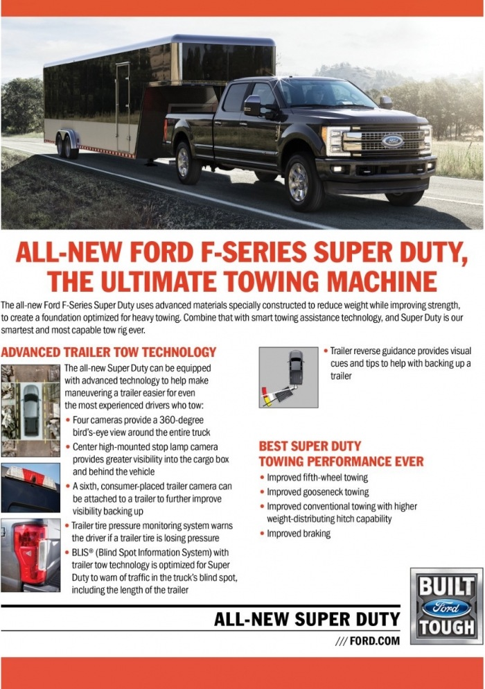 CFPR00225 SD Towing R10 - The All-New 2017 Ford Super Duty Owns Recreation!
