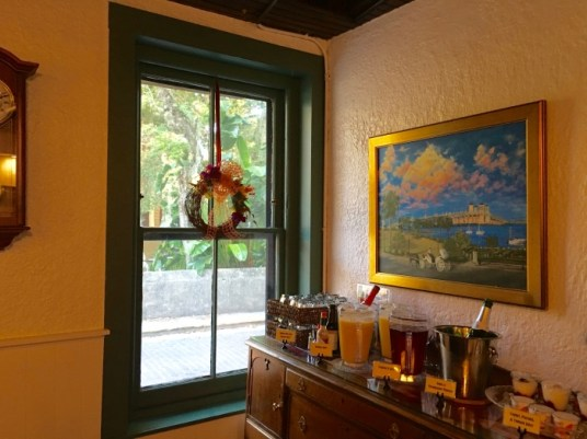 St. Francis Inn St Augustine Florida Breakfast Beverages
