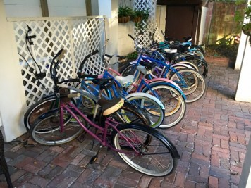Bicycles St. Francis Inn St Augustine Florida