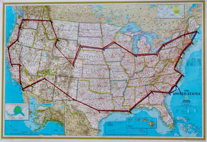 Mapped Route - Reflections on an Epic US Road Trip