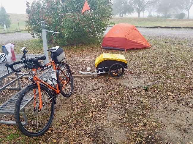 First campsite 650 - A Solo Bike Ride Across the Southern Tier