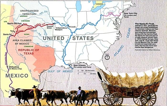 Map of Santa Fe Trail NPS - Drive the Kansas Flint Hills Scenic Byway