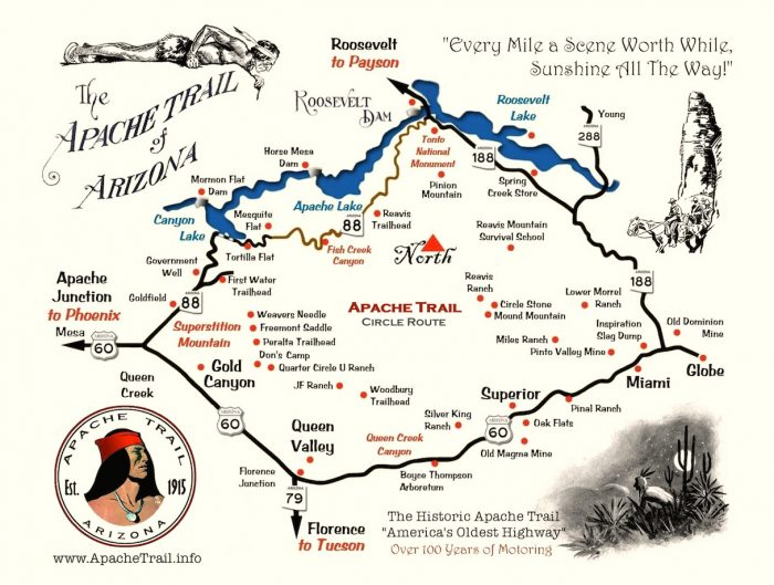 apachetrailmap e1491314665773 - A Day Trip on the Arizona Apache Trail