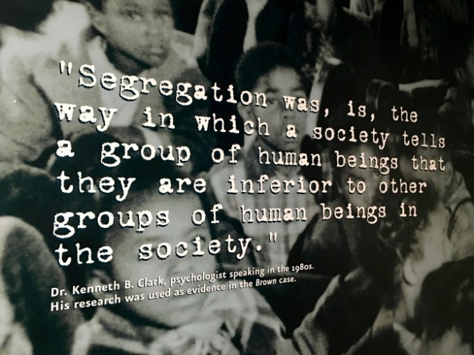 Brown Board Education NPS Site Topeka segregation quote