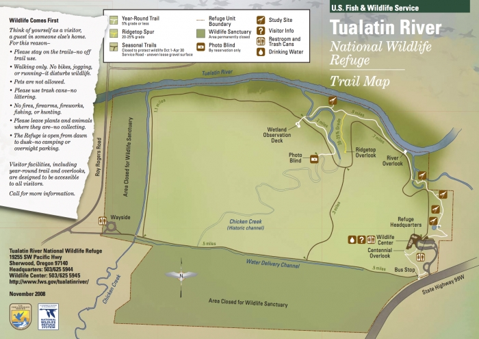Trail Map - Vineyards & Valleys: A Tualatin Oregon Scenic Drive