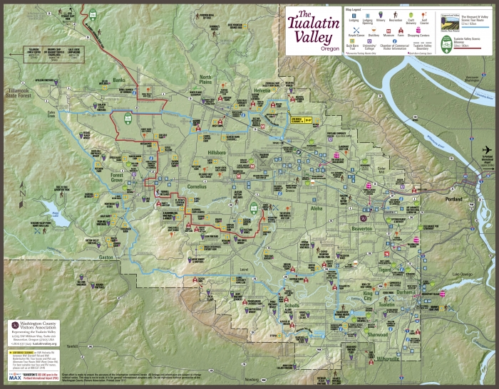 Tualatin Valley Tear Sheet Map 17x13.25 2017 REV No WSHotel 2 - Vineyards & Valleys: A Tualatin Oregon Scenic Drive