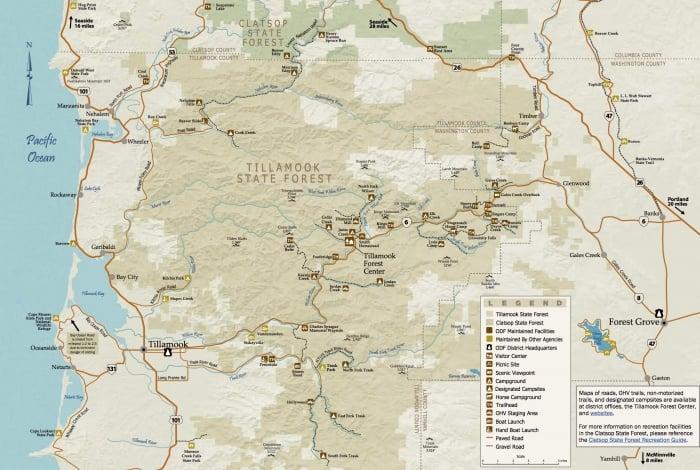 TillamookStateForestRecreationGuide - Tillamook: A Drive Along the North Oregon Pacific Coast