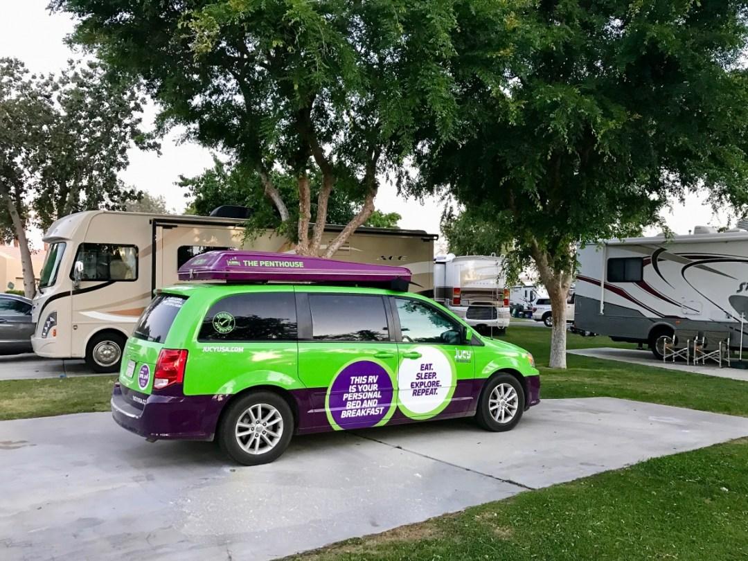 JUCY camper van - How to Plan a California Desert Camper Van Road Trip