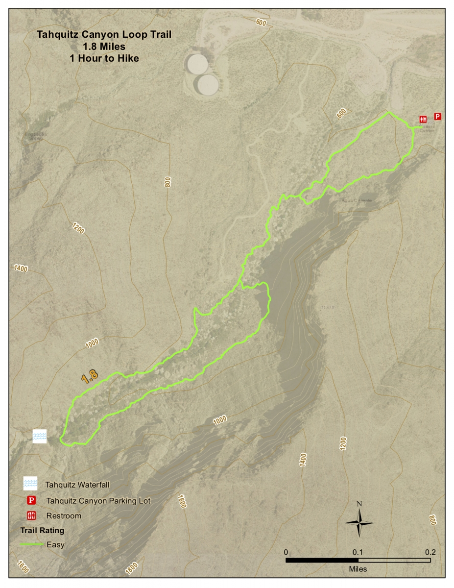 Tahquitz Canyon Map 1 - Take a Hike up Southern California's Tahquitz Canyon