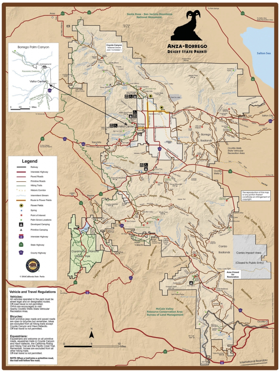 abdsp Park Map201704 - Wildflower Chasing at Anza-Borrego Desert State Park California