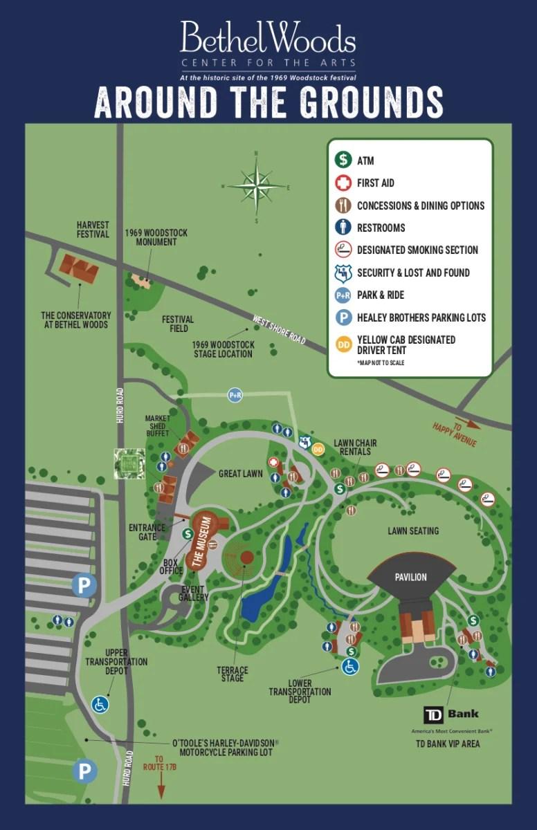 BWCA GROUNDSMAP2017 f85ed1457d - Retaking Woodstock: The Museum at Bethel Woods