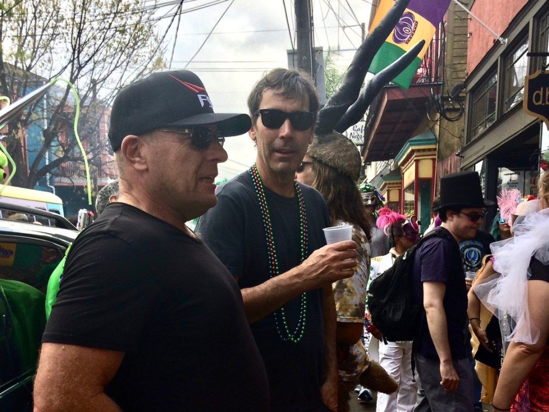 Outside of dba Mardi Gras Day - Uncover the Secrets of New Orleans Neighborhoods