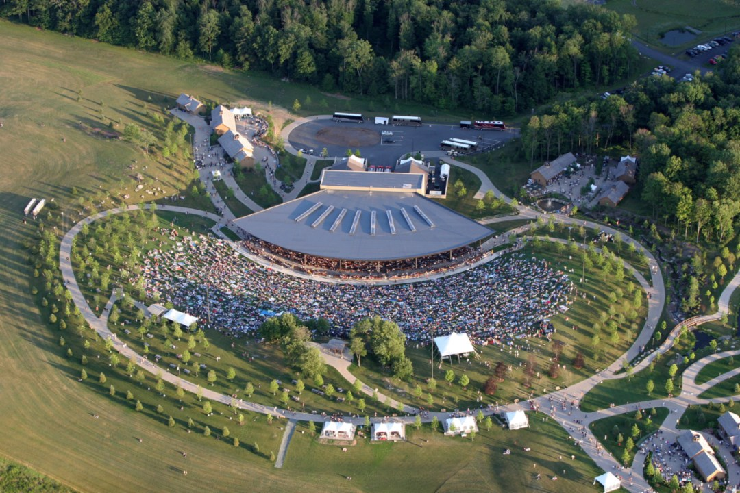 PavilionAerial - Retaking Woodstock: The Museum at Bethel Woods