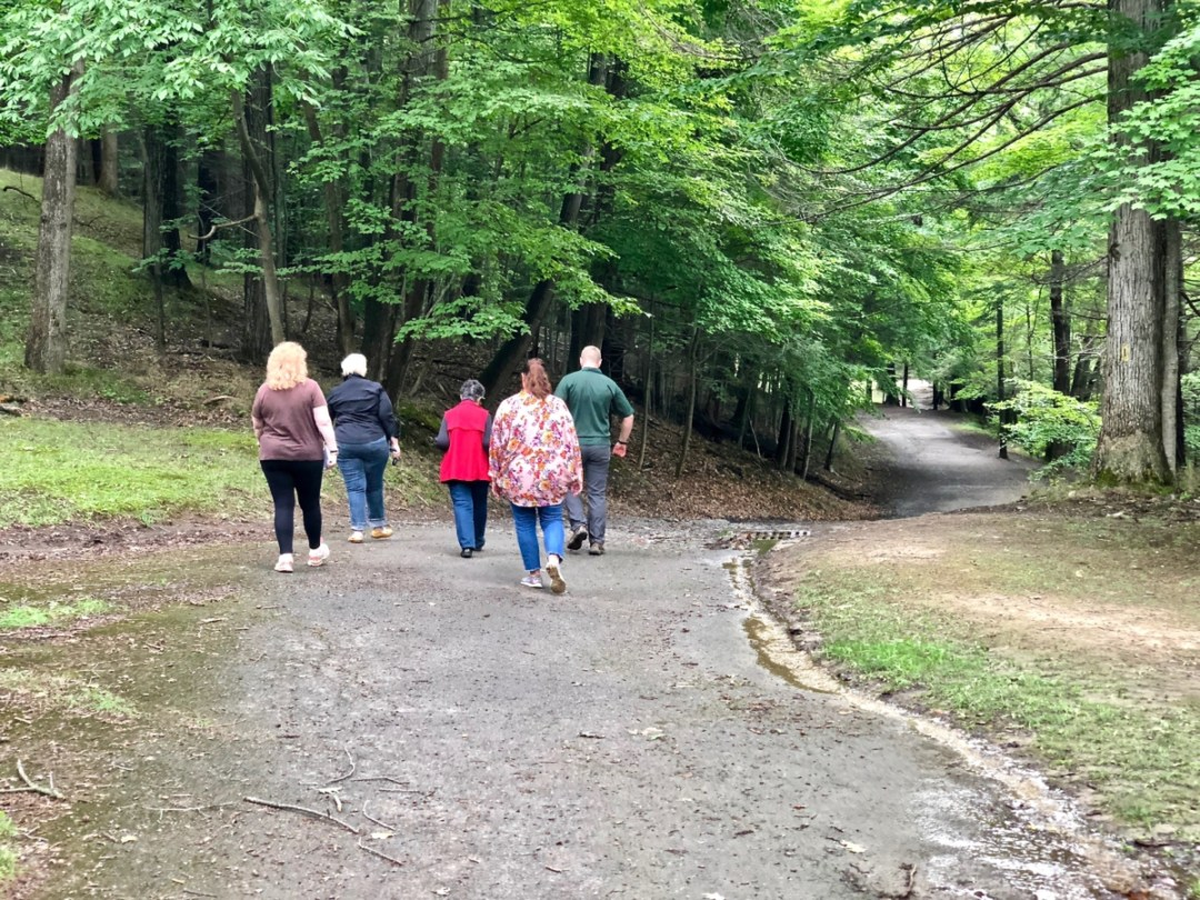 lower falls hikers - Things to Do in Letchworth State Park