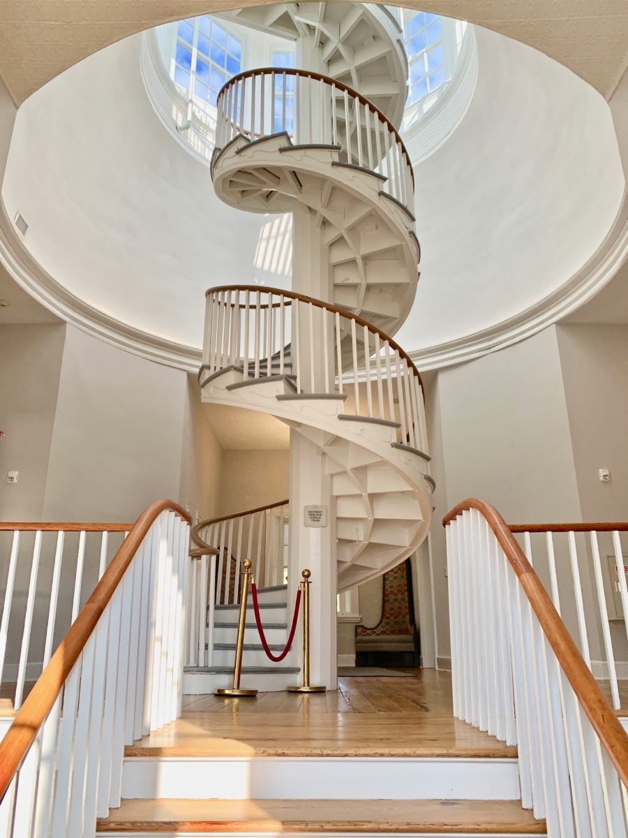 Blackburn Inn Spiral Staircase - Fun Things to Do in Staunton Virginia