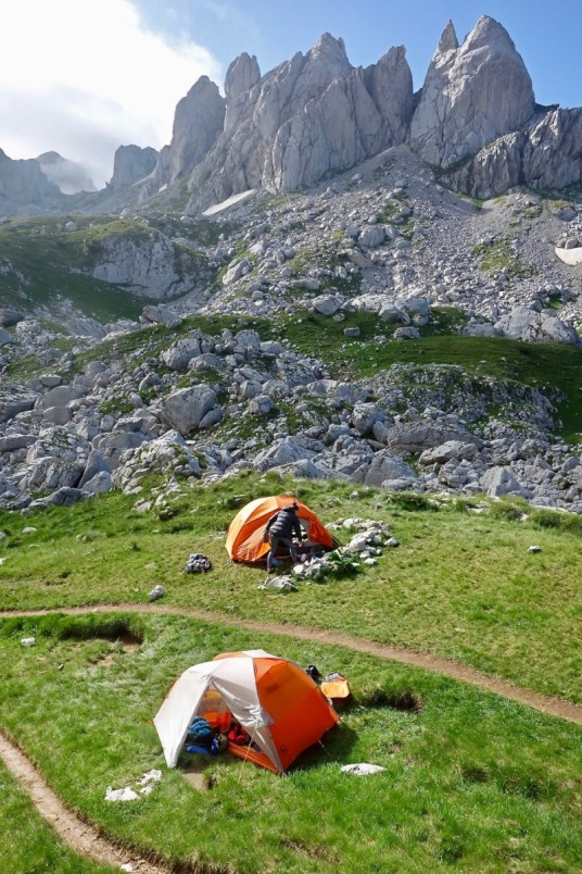 Camping Montenegro in a mountain valley