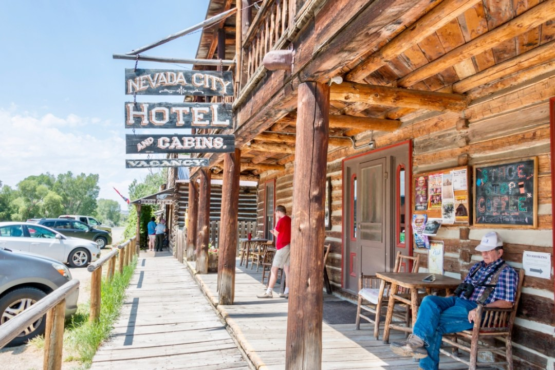 Nevada City Hotel Front - Two Montana Ghost Towns Where the Old West Comes Alive