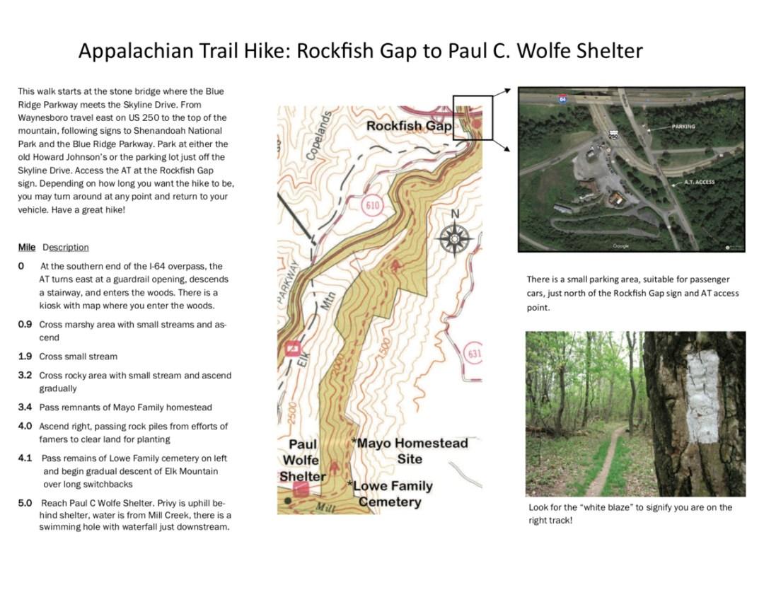 Accessing the AT from Waynesboro Brochure - Visit Waynesboro Virginia: Gateway to the Shenandoah Valley