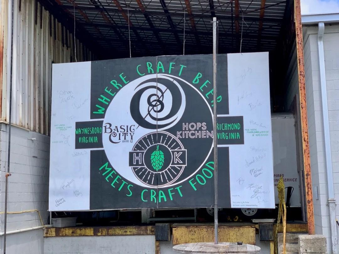 Basic City Hops sign - 10 Popular Craft Breweries & Restaurants in Waynesboro Virginia