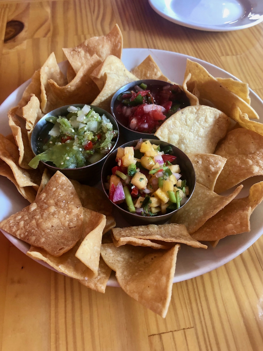 Salsa sampler at Salvorez - Wilmington, North Carolina: Hooray for Hollywood & Hometown Hospitality!