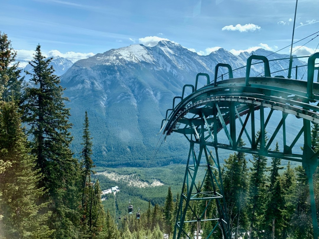 Banff Gondola Looking Down - The Best Sites & Activities for a Town of Banff Adventure