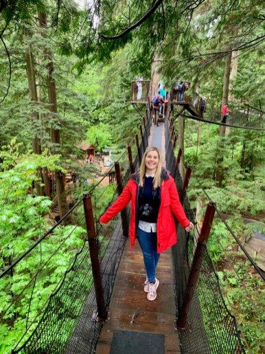 Claudia Laroye at Capilano Suspension Bridge Park