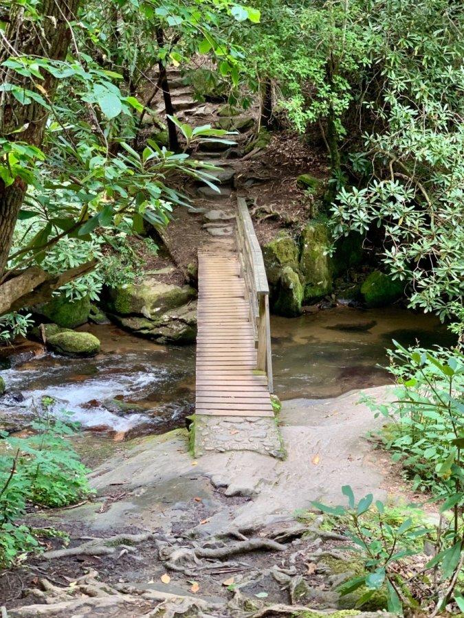 Hemlock Falls Trail Footbridge over Moccasin Creek